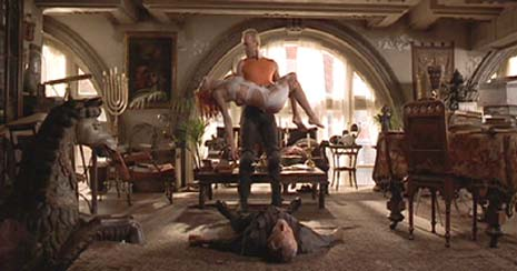 The Fifth Element: Confronted by the presence of the perfect being, for whose arrival he's prepared his entire life, Priest Vito Cornelious faints dead away.