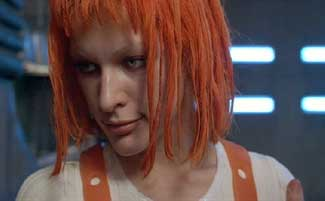 The Fifth Element: LeeLoo agrees to fly to Egypt with David.