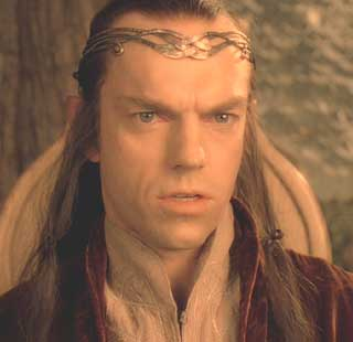 Lord of the Rings: The Fellowship of the Ring: Elrond Undómiel, Lord of Rivendell, played by the fab Hugo Weaving