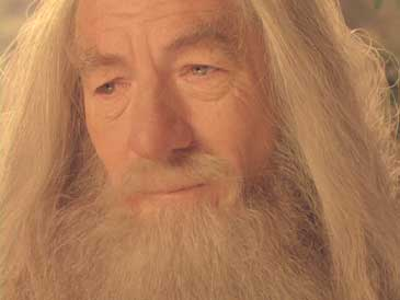 Lord of the Rings: The Fellowship of the Ring: The relief shows on Gandalf's face when Frodo offers to carry the ring into Mordor.