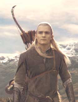 Lord of the Rings: The Fellowship of the Ring: The elf Legolas, master archer.