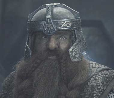 Lord of the Rings: The Fellowship of the Ring: Gimli remarks that there is still one dwarf in Moria that draws blood.