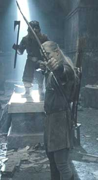 Lord of the Rings: The Fellowship of the Ring: Legolas and Gimli greet their attackers.