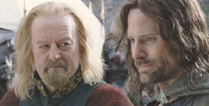 Lord of the Rings: The Return of the King: Th�oden and Aragorn: these are my idea of men.