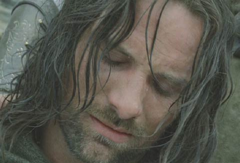 Lord of the Rings: The Return of the King: A low point for Aragorn. He believes he has failed to convince the Dead to fight and he knows the men are badly outnumbered.