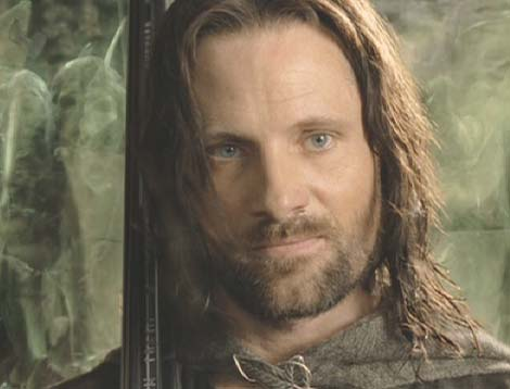 Lord of the Rings: The Return of the King: Aragorn with the army of the Dead at his back.