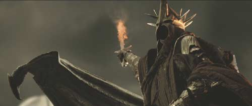 Lord of the Rings: The Return of the King: The Witch King. (He has Gandalf cornered. Why does he leave?)