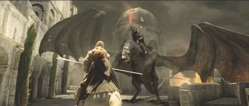 Lord of the Rings: The Return of the King: Gandalf faces the Witch King.