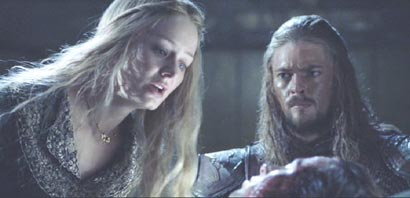 Lord of the Rings: The Two Towers: �owyn and her brother �omer, played by the handsome Karl Urban.