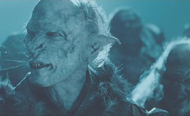 Lord of the Rings: The Two Towers: A spitting orc.