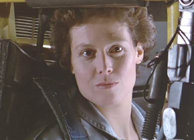 Aliens: Ripley demonstrating her skills with a loader.