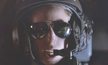 Aliens: Corporal C. Ferro (Colette Hiller) piloting the drop-ship - the way she wears those sunglasses and delivers her lines says ice runs in her veins.
