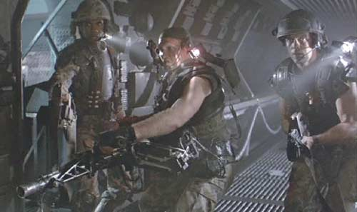 Aliens: The marines patrol the corridors.