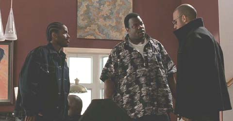 A Man Apart: Demetrius (Larenz Tate), Big Sexy (George Sharperson) and Sean planning their next move.