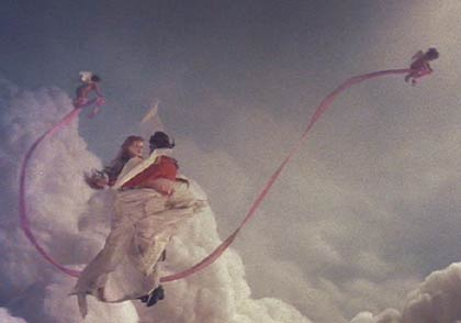 The Adventures of Baron Munchausen: Venus dances with the Baron in the sky.