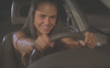 The Fast and the Furious: Mia (Jordana Brewster) drives like her brother.