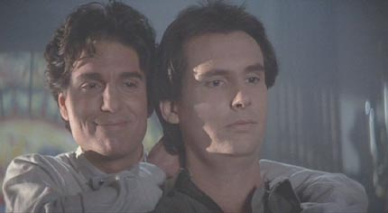 Fright Night: Jerry and Billy gloat at Peter Vincent and Charlie's ineffectual attempts to rescue Amy.