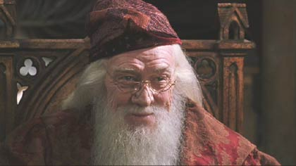 Harry Potter and the Chamber of Secrets: One last look at Sir Richard Harris as Dumbledore.