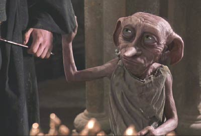 Harry Potter and the Chamber of Secrets: Dobby (voiced by Toby Jones) has a message for Harry.