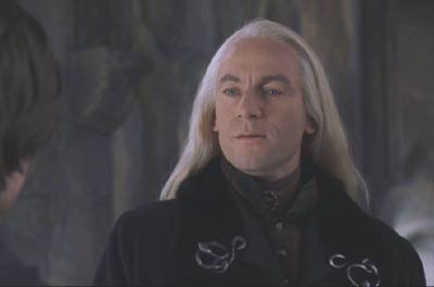 Harry Potter and the Chamber of Secrets: Lucius Malfoy. Cooincidence that his name is so close to luscious?