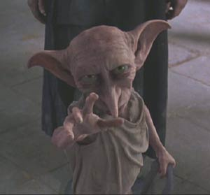 Harry Potter and the Chamber of Secrets: Dobby steps in to defend Harry.