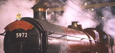 Harry Potter and the Sorcerer's Stone: Hogwart's Express. Just the way a train should look, I think.