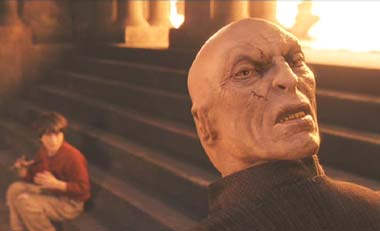 Harry Potter and the Sorcerer's Stone: One hopes Voldemort has looked better...