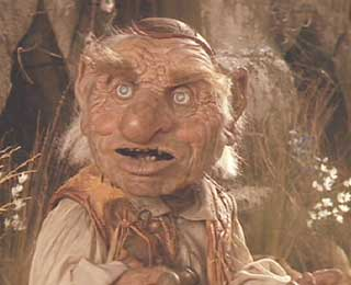 Labyrinth: Hoggle, a little Henson magic.