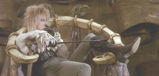 Labyrinth: The Goblin King, relaxing at home.
