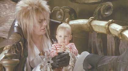 Labyrinth: David Bowie and one very lucky baby.