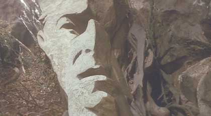 Labyrinth: Jareth's face appears in the rocks - a neat visual trick.