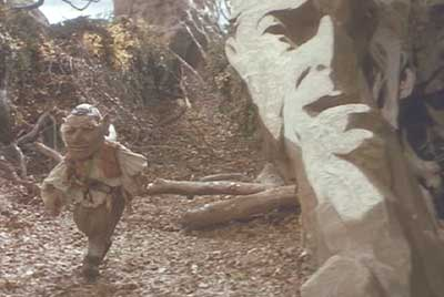 Labyrinth: The face rocks' secret revealed as the camera angle changes.