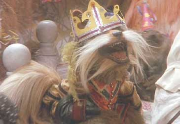 Labyrinth: Didymus gets down in the final celebration.
