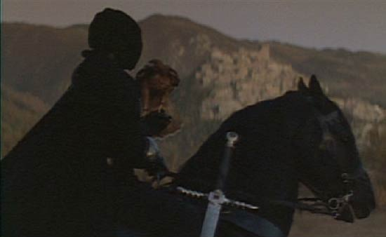 Ladyhawke: Etienne Navarre gazes toward the city of Aquila.