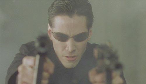 keanu reeves matrix neo. The Matrix: Neo attacks the