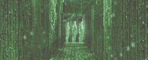 The Matrix: Neo now sees everything in code.
