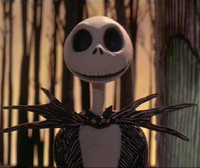 Nightmare Before Christmas: Jack discovers the doorway to Christmas Town (speaking voiced by Chris Sarandon.)