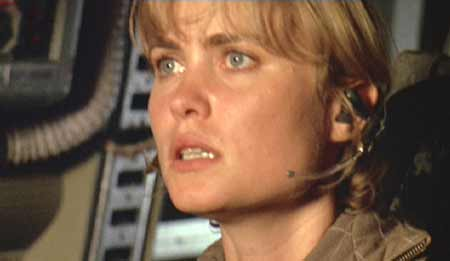 Pitch Black: During a crisis docking pilot Carolyn Fry tries to dump her passengers to save an out-of-control ship, thereby posing Pitch Black's central question of the morality of self-sacrifice within the first five minutes.