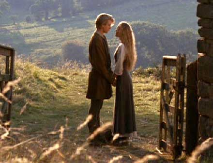 The Princess Bride: A tearful farewell as Westley leaves Buttercup to seek his fortune.