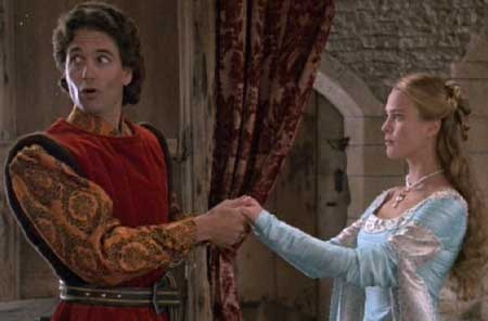The Princess Bride: A slip of the tongue reveals to Buttercup that Prince Humperdinck has lied about sending his four fastest ships to locate Westley.