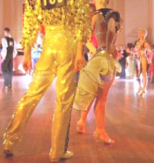Strictly Ballroom: The flashy world of competitive ballroom dancing, as portrayed by Baz Luhrmann.  Shake it, Paul!