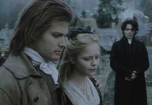 Sleepy Hollow: Brom, Katrina and Ichabod at Masbeth Sr.'s funeral.