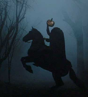 Sleepy Hollow: Brom plays the Disney version of the Horseman to frighten Ichabod.