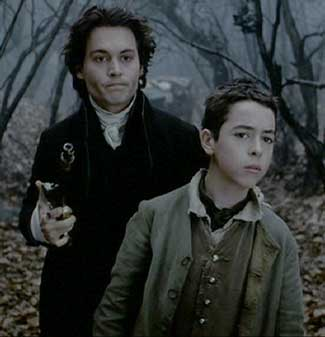 Sleepy Hollow: Ichabod uses Young Masbeth as a shield while approaching the crone in the western woods.