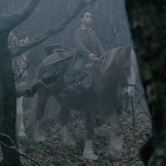 Sleepy Hollow: Young Masbeth riding throught the western woods.
