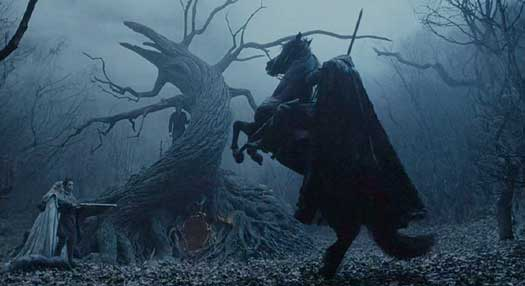 Sleepy Hollow: The Horseman arises before Katrina, Young Masbeth and Ichabod.