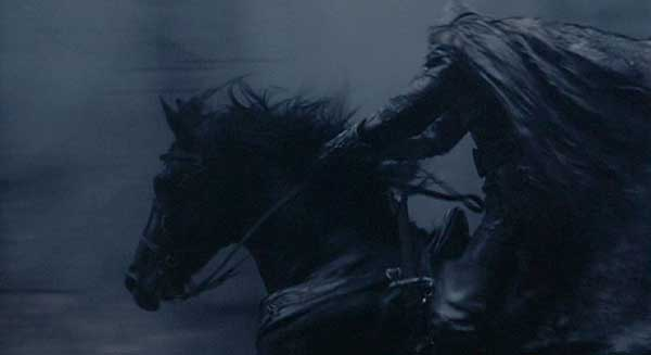 Sleepy Hollow: The Headless Horseman gallops toward his next victim.