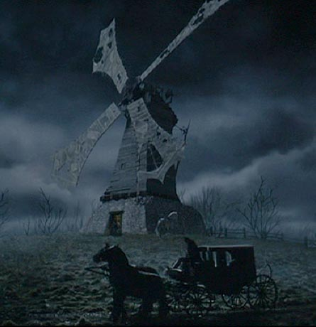 Sleepy Hollow: The windmill from which Lady Van Tassel will call the Horseman to come for Katrina.
