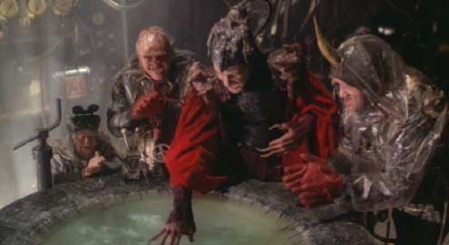 Time Bandits: Imprisoned in the Fortress of Ultimate Darkness, the Evil Genius - fabulously played by David Warner! - sets in motion his plan to overthrow creation.