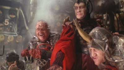 Time Bandits: Evil's lackeys celebrating his plotting.